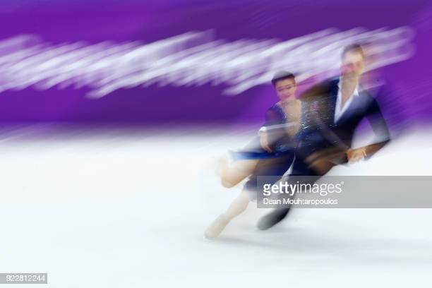 Natalia Kaliszek and Maksym Spodyriev of Poland compete in the Figure Skating Ice Dance Free Dance on day eleven of the PyeongChang 2018 Winter...