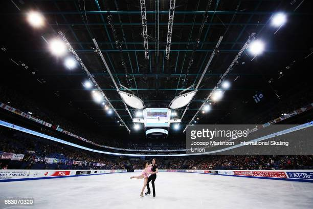 Natalia Kaliszek and Maksym Spodyriev of Poland compete in the Ice Dance Free Dance during day four of the World Figure Skating Championships at...