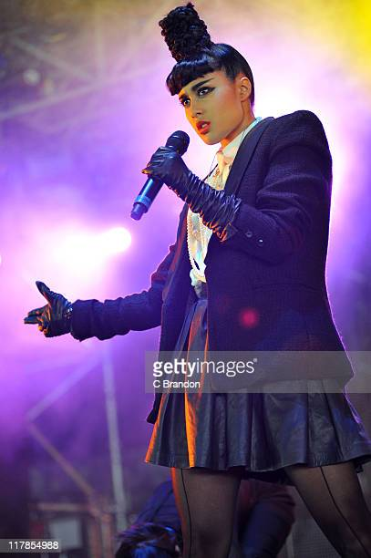 Natalia Kills performs on the Pepsi Max stage during day 1 of the Wireless Festival on July 1 2011 in London United Kingdom