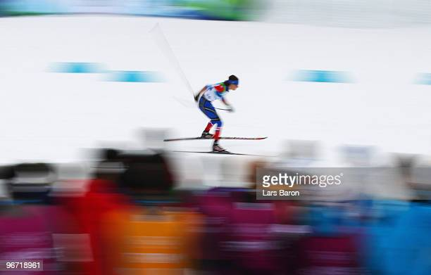 Natalia Korosteleva of Russia competes during the CrossCountry Skiing Ladies' 10 km Free on day 4 of the 2010 Winter Olympics at Whistler Olympic...