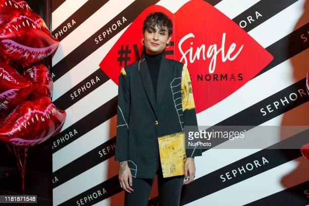 Natalia Lacunza attends the Mala Rodriguez concert during the performance in the Joy Eslava hall in Madrid November 11 2019 Spain