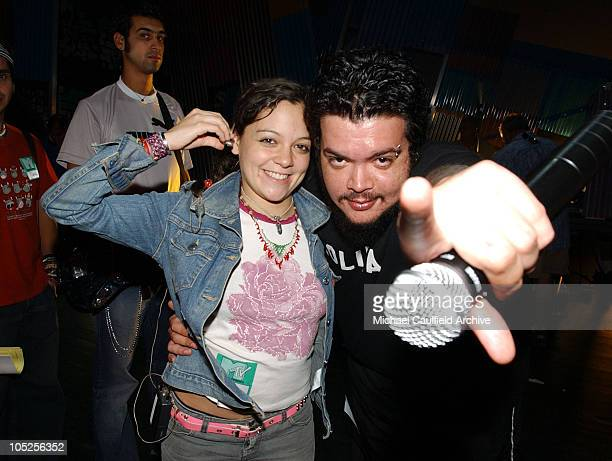 Natalia Lafourcade and Pato of Control Machete during MTV Video Music Awards Latin America 2003 Rehearsals Day One at The Jackie Gleason Theater in...
