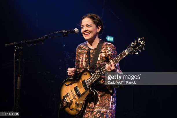 Natalia Lafourcade performs at Le Bataclan on February 13 2018 in Paris France