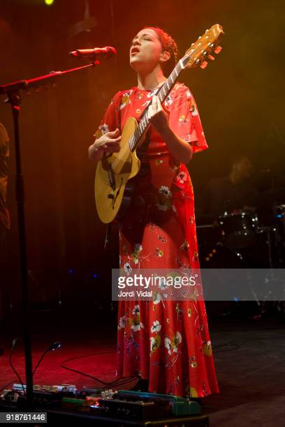Natalia Lafourcade performs on stage at Sala Apolo on February 15 2018 in Barcelona Spain