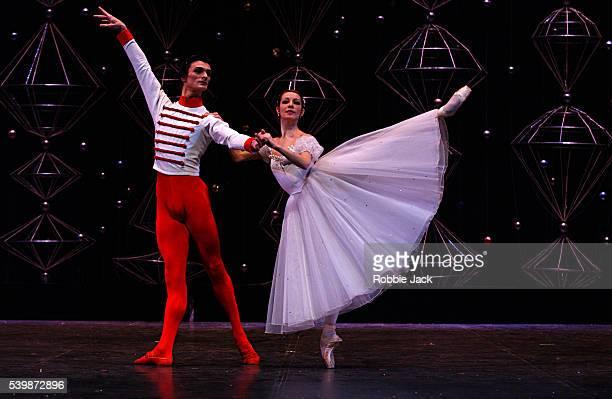 Natalia Ledovskaya and Georgy Smilevski in the Moscow Stanislavsky Ballet production 'The Nutcracker' at the Royal Festival Hall
