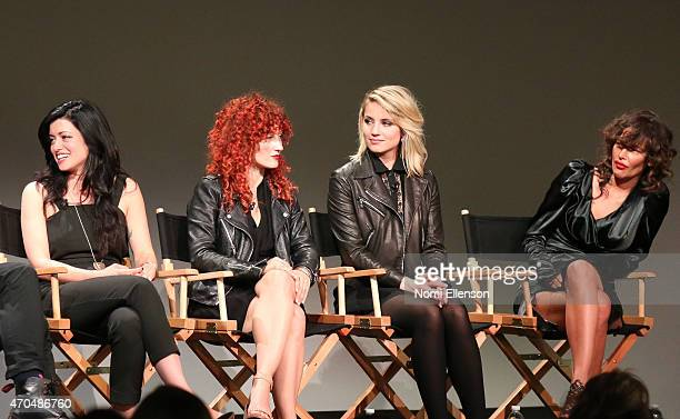 Natalia Leite Alexandra Roxo Dianna Agron and Paz de la Huerta speak at Apple Store Soho Presents Tribeca Film Festival 'Bare' at Apple Store Soho on...