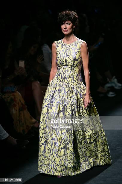 Natalia Lopez walks the runway at theL'Oreal Paris 'Porque Tu Lo Vales' fashion show during the Mercedes Benz Fashion Week Spring/Summer 2020 at...