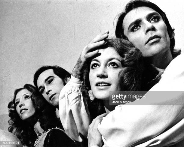 Natalia Makarova John Prinz Carla Fracci and Ivan Nagy take a break from rehearsing American Ballet Theatre's 'Romeo and Juliet' in 1971