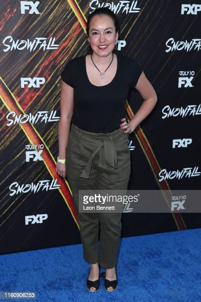 Natalia Mejia attends Premiere Of FX's Snowfall Season 3 at Bovard Auditorium At USC on July 08 2019 in Los Angeles California