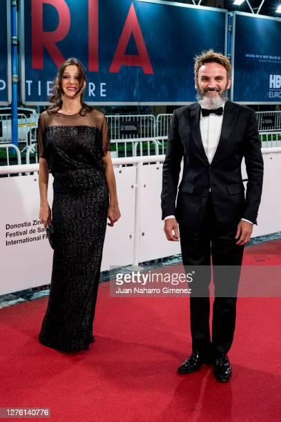 Natalia Millan and Fernando Tejero attend 'Beginning' premiere during the 68th San Sebastian International Film Festival at the Kursaal Palace on...