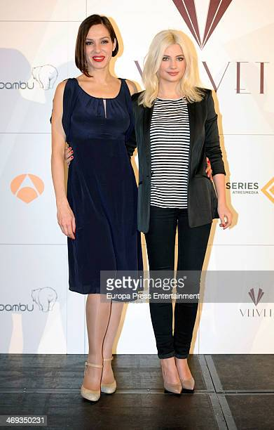 Natalia Millan and Miriam Giovanelli attend the presentation of 'Galerias Velvet' at Ritz Hotel on February 14 2014 in Madrid Spain