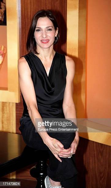 Natalia Millan is seen on set filming 'Galerias Velvet' on June 24 2013 in Madrid Spain