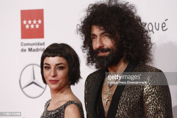 Natalia Moreno and Ara Malikian attend the red carpet during 'Jose Maria Forque Awards' 2020 at Ifema on January 11 2020 in Madrid Spain