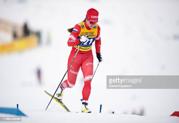 Natalia Nepryaeva of Russia competes during the women's cross country sprint qualification at the FIS nordic world cup Oberstdorf on January 26 2020...
