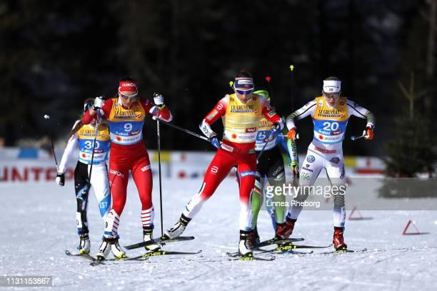 Natalia Nepryaeva of Russia during the Women's Cross Country Sprint quarterfinals at the Stora Enso FIS Nordic World Ski Championships on February 21...