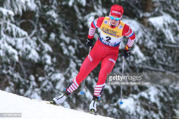 Natalia Nepryaeva of Russia takes 2nd place during the FIS Nordic World Cup Men's and Women's Cross Country Pursuit on January 3 2019 in Oberstdorf...