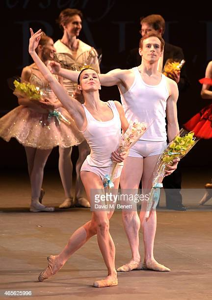 Natalia Osipova and Edward Watson on stage as the London Coliseum host the 10th anniversary of the Russian Ballet Icons Gala at London Coliseum on...