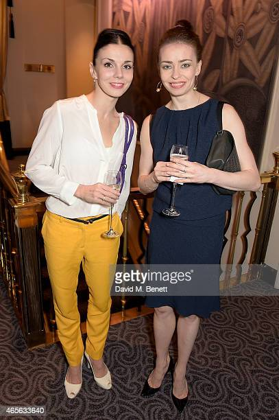 Natalia Osipova and Ekaterina Krysanova attend as the London Coliseum host the 10th Anniversary of the Russian Ballet Icons Gala afterparty at The...