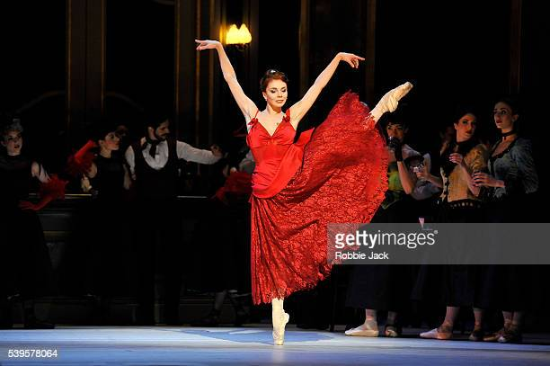 Natalia Osipova as Amelie Gautreau with artists of the company in the Royal Ballet's production of Christopher Wheeldon's Strapless at the Royal...