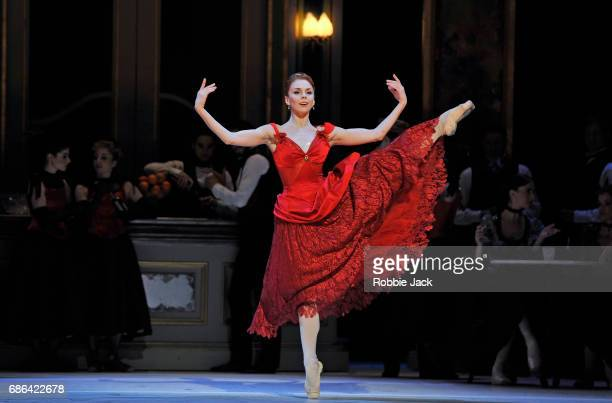 Natalia Osipova as Amelie Gautreau with artists of the company in the Royal Ballet's production of Christopher Weeldon's Strapless at The Royal Opera...