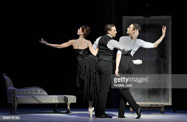 Natalia Osipova as Amelie GautreauEdward Watson as John Singer Sargent and Matthew Ball as Albert Belleroche in the Royal Ballet's production of...