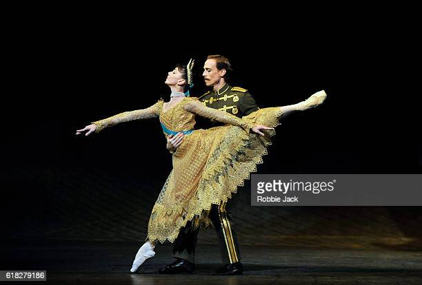Natalia Osipova as Anastasia and Edward Watson as Officer in the Royal Ballet's production of Kenneth MacMillan's Anastasia at the Royal Opera House...