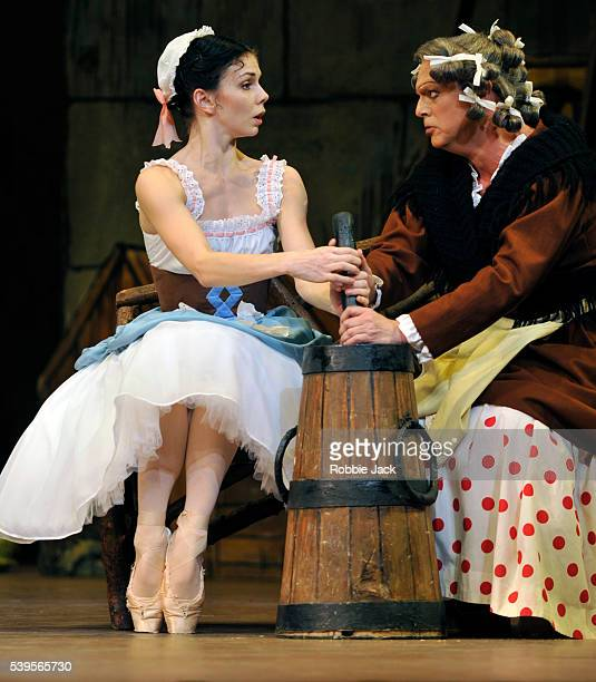 Natalia Osipova as Lise and Philip Mosley as Widow Simone in the Royal Ballet's production of Frederick Ashton's La Fille Mal Gardee at the Royal...