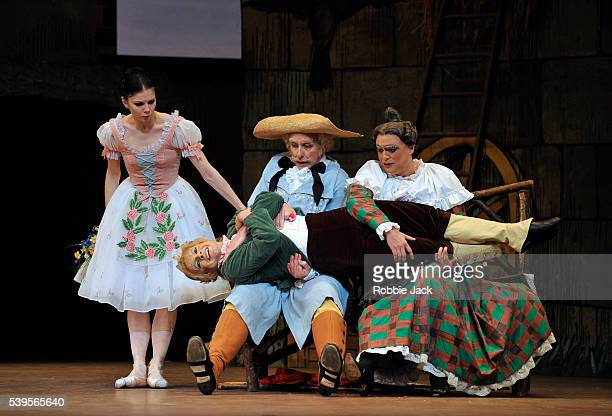 Natalia Osipova as Lise, Christopher Saunders as Thomas, Philip Mosley as Widow Simone and Paul Kay as Alain in the Royal Ballet's production of...