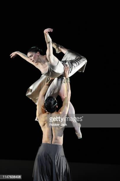 Natalia Osipova as Medusa and Ryoichi Hirano as Poseidon in The Royal Ballet's production of Sidi Larbi Cherkaoui's Medusa at The Royal Opera House...