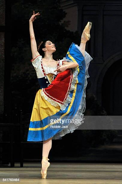 Natalia Osipova as Swanilda in the Bolshoi Ballet's production of Enrico Cecchetti, Marius Petipa, George Balanchine and Alexandra Danilova's...