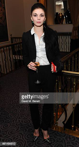 Natalia Osipova attends a gala evening celebrating Old Russian New Year's Eve in aid of the Gift Of Life Foundation at The Savoy Hotel on January 13...