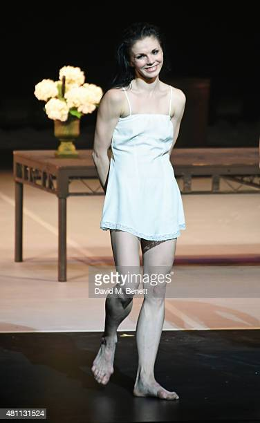Natalia Osipova bows at the curtain call during the Ardani 25 Dance Gala at The London Coliseum on July 17 2015 in London England