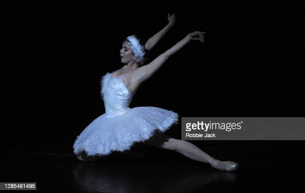 """Natalia Osipova in The Royal Ballet's production of Michael Fokin's Dying Swan at The Royal Opera House as part of """"The Royal Ballet: Live, Within..."""