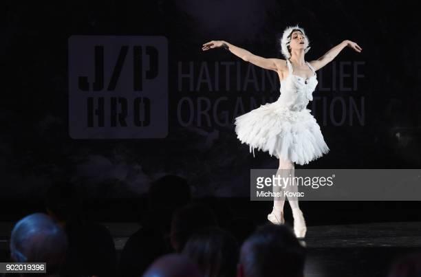 Natalia Osipova performs onstage during the 7th Annual Sean Penn Friends HAITI RISING Gala benefiting J/P Haitian Relief Organization on January 6...