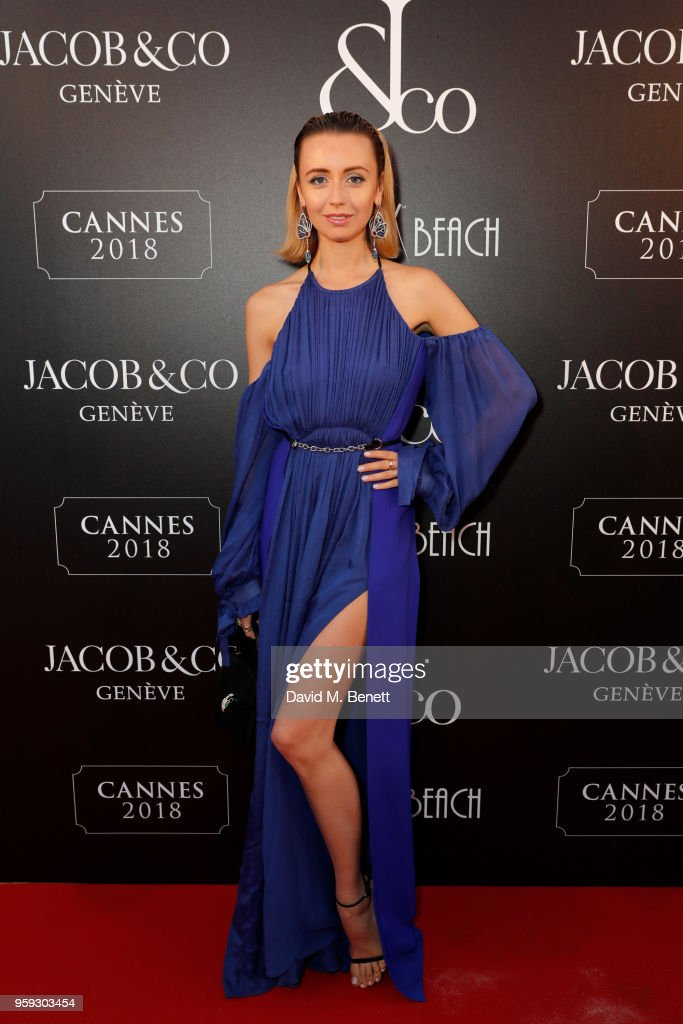 Natalia Osman attends the Jacob & Co Cannes 2018 party at Nikki Beach on May 16, 2018 in Cannes, France.