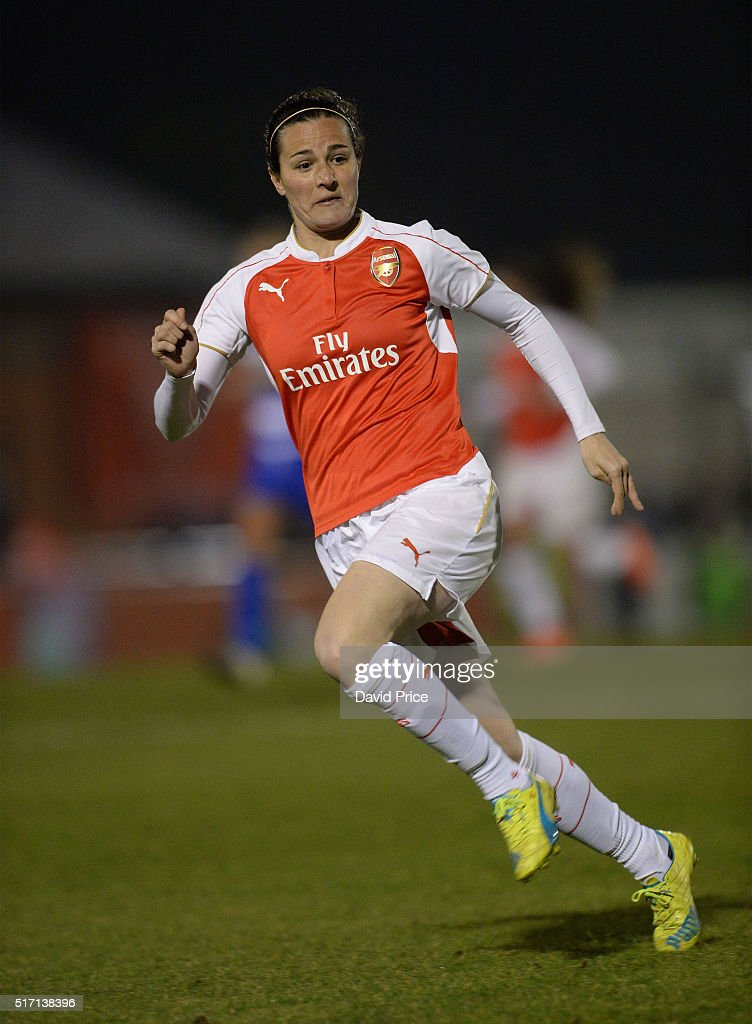 Natalia Pablos Sanchon of Arsenal Ladies during the match between Arsenal Ladies and Reading FC Women on March 23, 2016 in Borehamwood, England.