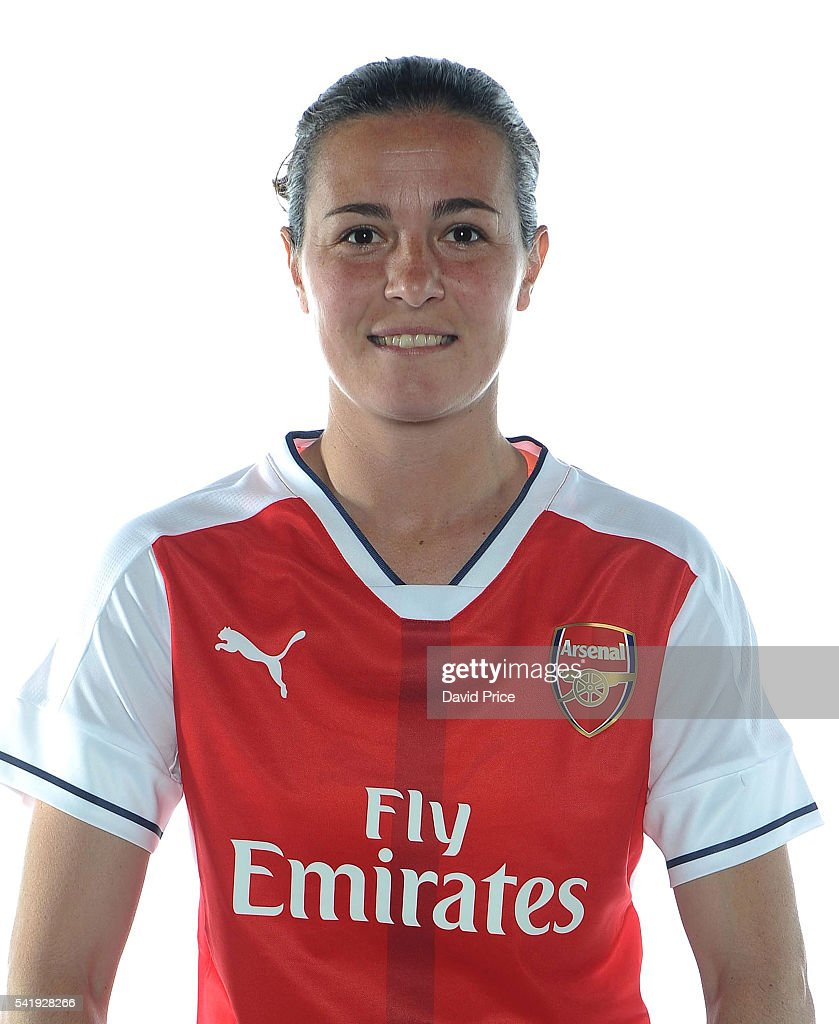 Natalia Pablos Sanchon of the Arsenal Ladies during their photocall at London Colney on June 16, 2016 in St Albans, England.