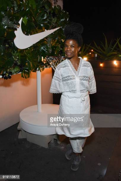 Natalia Pereira attends the Flaunt Magazine Dinner with Nike and Revolve on February 15 2018 in Los Angeles California