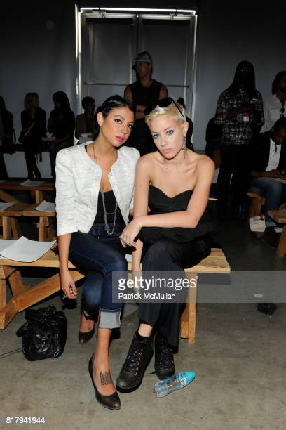 Natalia Ramirez and Amanda Leigh Dunn attend YIGAL AZROUEL Spring 2011 Fashion Show at Pier 59 on September 15 2010 in New York City