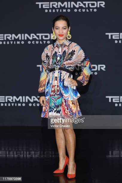Natalia Reyes attends a press conference to promote the new film Terminator Dark Fate at Four Seasons hotel on October 13 2019 in Mexico City Mexico