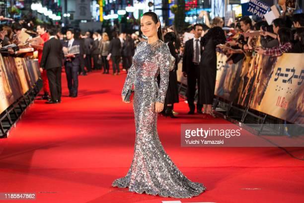 Natalia Reyes attends the Japan premiere of 'Terminator Dark Fate' at Shinjuku Kabukicho Godzilla Road on November 06 2019 in Tokyo Japan