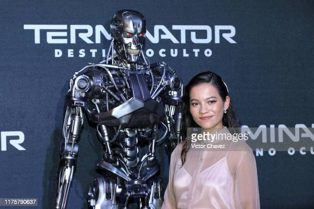 Natalia Reyes attends the Terminator Dark Fate fan event at Toreo Parque Central on October 13 2019 in Mexico City Mexico