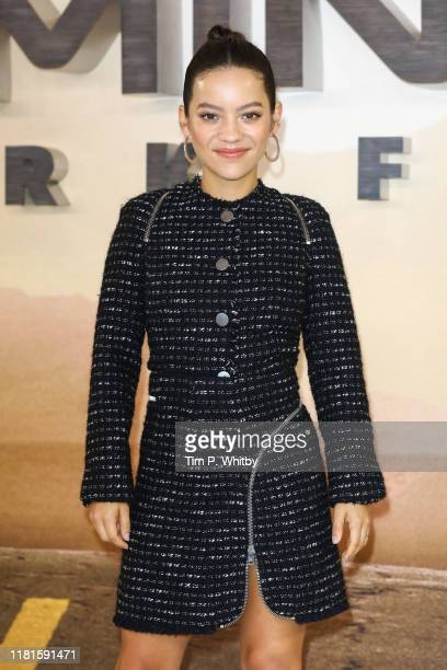 Natalia Reyes attends the Terminator Dark Fate photocall on October 17 2019 in London England