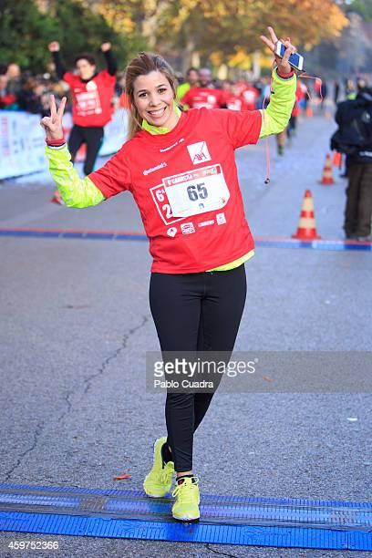 Natalia Rodriguez attends 'Ponle Freno' charity race at El Retiro on November 30 2014 in Madrid Spain