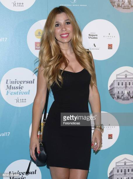 Natalia Rodriguez attends the Luis Fonsi Universal Music Festival concert at The Royal Theater on July 30 2017 in Madrid Spain