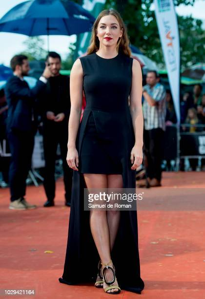 Natalia Rodriguez attends the red carpet closing of FesTVal 2018 on September 8 2018 in VitoriaGasteiz Spain