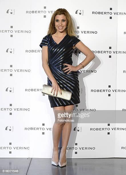 Natalia Rodriguez attends the Roberto Verino new SpringSummer 2016 'Un Balcon al Mar' collection launch at Platea on March 16 2016 in Madrid Spain