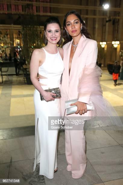 Natalia Rudziewicz and Nilam Farooq during the Lola - German Film Award Party at Palais am Funkturm on April 27, 2018 in Berlin, Germany.