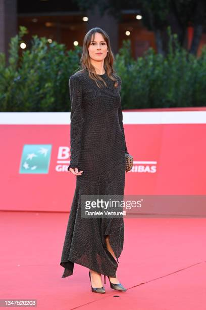 """Natalia Ryumina attends the red carpet of the movie """"Paura Del Buio"""" during the 16th Rome Film Fest 2021 on October 19, 2021 in Rome, Italy."""