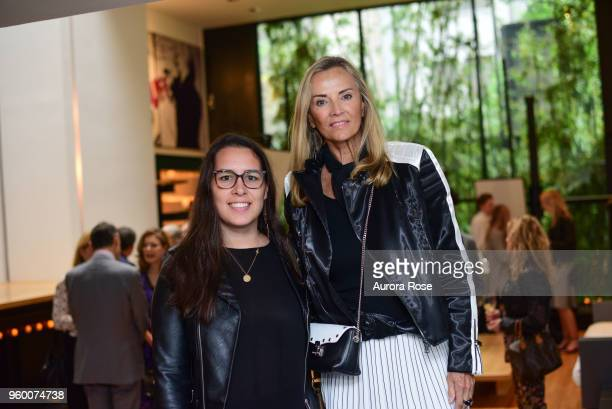 Natalia Saavedra and Bonnie Pfeifer Evans attend 'Charles James Portrait Of An Unreasonable Man Fame Fashion Art' By Michele Gerber Klein Cocktail...